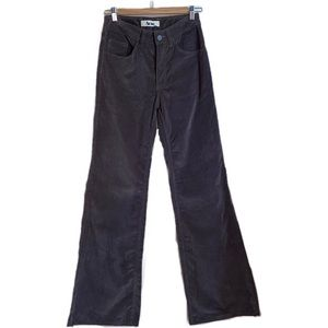 ACNE STUDIO Grey Velvet Flare A-Pant Trouser Pants